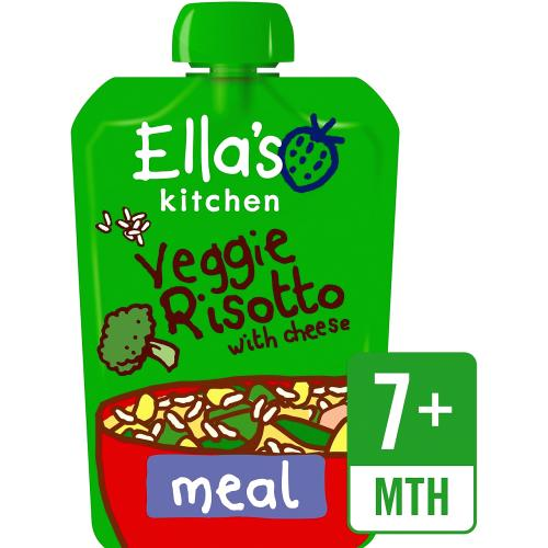 Organic Veggie Risotto with Cheese Baby Pouch 7+ Months