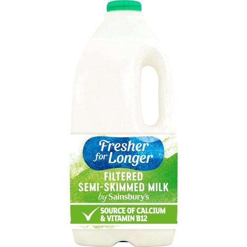 Sainsbury's British Filtered Semi Skimmed Milk