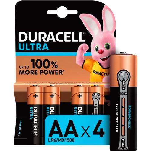 Duracell Ultra AA Batteries 4 Pack 4 Pack