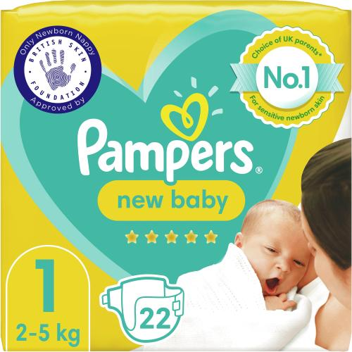 New Baby Size 1 22 Nappies 2kg-5kg Carry Pack