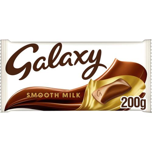 Galaxy Smooth Milk Chocolate More to Share Block 200g