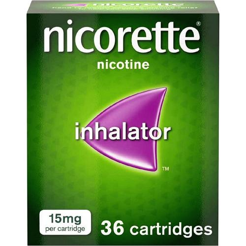 Nicorette 15mg Inhalator 36 cartridges (Stop Smoking Aid)