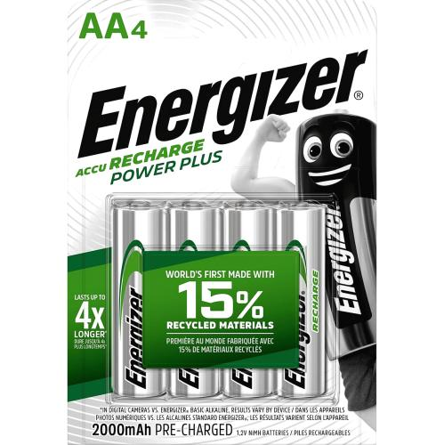 Energizer Recharge Power Plus AA 1.2v 4 Pack