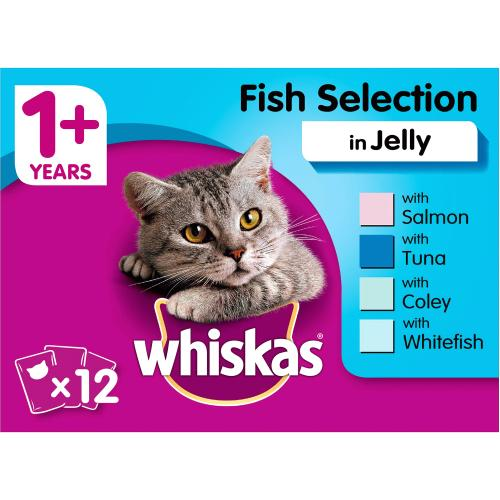 Whiskas 1+ Fish Selection in Jelly 100g