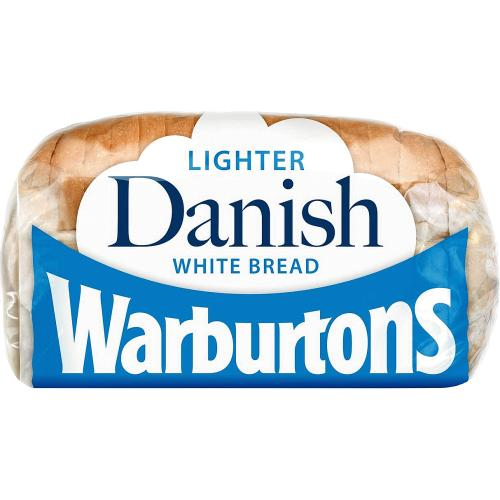 Warburtons Danish Lighter White Bread 400g