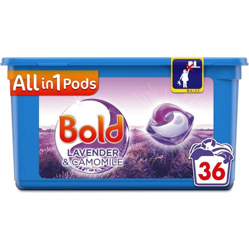 Bold All In One Washing Pods Lavender & Camomile 36 Washing 36 Pack
