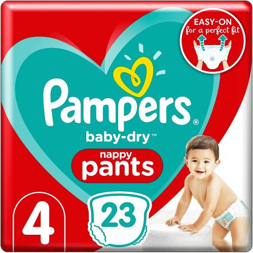 Baby-Dry Nappy Pants Size 4 23 Nappies 9kg-15kg Carry Pack