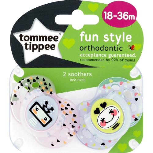 Tommee Tippee Fun Soothers 18-36m 2 Pack