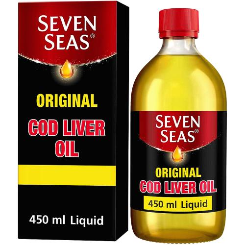 Seven Seas Original Cod Liver Oil Plus Omega-3 Fish Oil 450ml