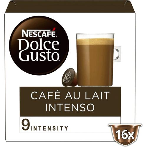Nescafe Dolce Gusto Cafe au Lait Intenso Coffee x 16 Pods, 16 Drinks 16 Pack