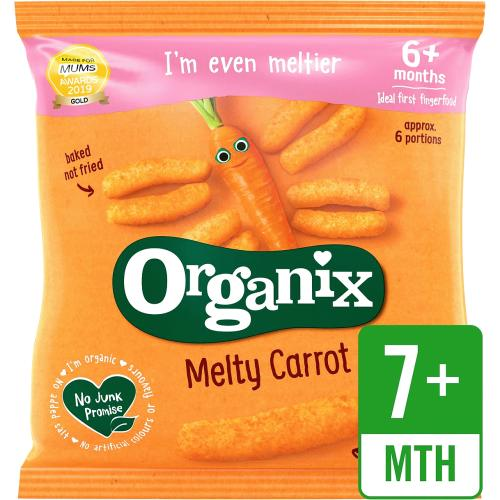 Melty Carrot Puffs Organic Baby Finger Food Snack