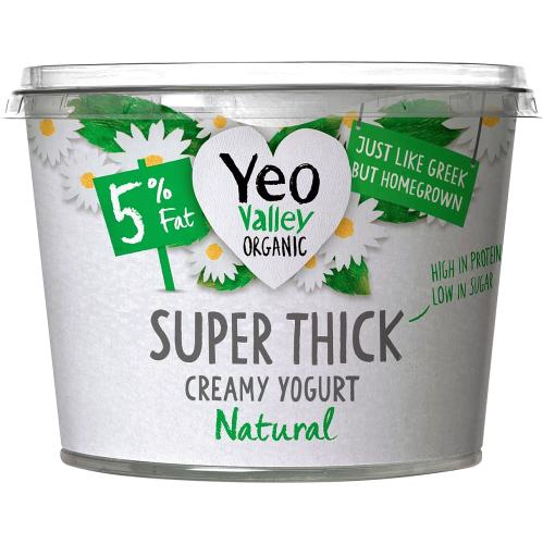 Yeo Valley Organic Super Thick Natural Kerned Yogurt 450g