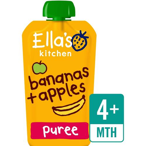 Ella's Kitchen Organic Bananas and Apples Baby Pouch 4+ Months 120g