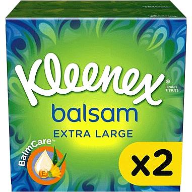 Kleenex Balsam Extra Large Tissues 2 Pack 2 Pack