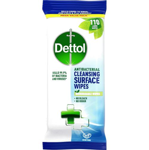 Dettol Antibacterial Surface Wipes 110 Pack