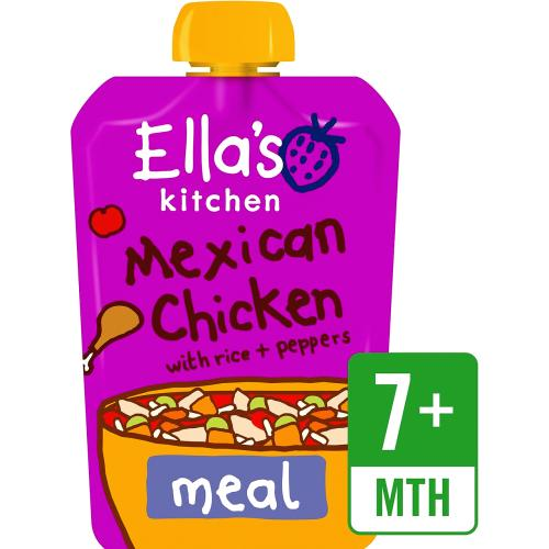 Organic Mexican Chicken with Rice Baby Pouch 7+ Months