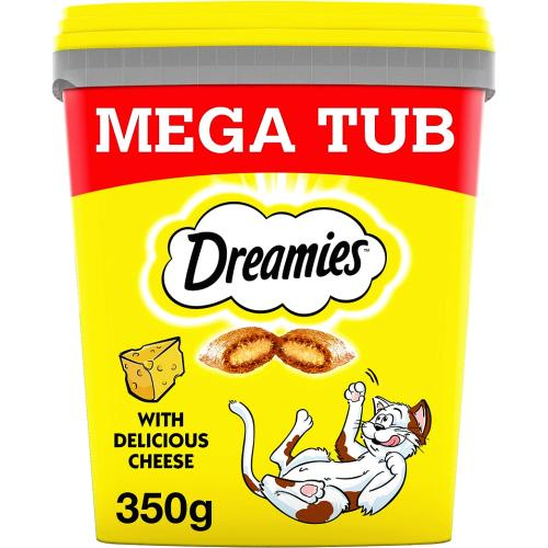 Dreamies Mega Pack Cheese Adult 1+ Cat Treat 350g
