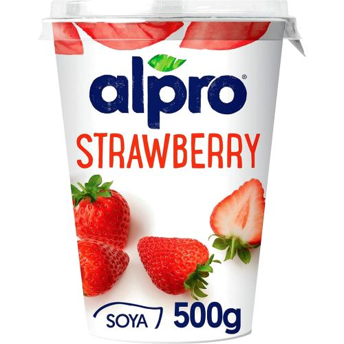 Alpro Strawberry Soya Yogurt 500g